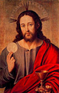 Jesus Holding the Eucharist